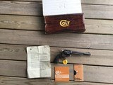 """COLT SAA, 357 MAGNUM CAL. 7 1/2"""" BLUE, MFG. 1978, NEW UNFIRED, UNTURNED IN THE BOX - 1 of 6"""
