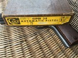 COLT 1911, 38 SUPER CAL. GOVERNMENT STYLE, MFG. 1950, IN ORIGINAL BOX WITH OWNERS MANUAL - 6 of 6