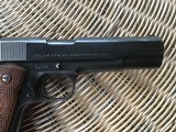 COLT 1911, 38 SUPER CAL. GOVERNMENT STYLE, MFG. 1950, IN ORIGINAL BOX WITH OWNERS MANUAL - 5 of 6
