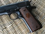 COLT 1911, 38 SUPER CAL. GOVERNMENT STYLE, MFG. 1950, IN ORIGINAL BOX WITH OWNERS MANUAL - 2 of 6