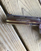 """COLT ANACONDA 44 MAGNUM, 6"""" STAINLESS NEW UNFIRED, UNTURNED, 100% COND. MFG. IN THE EARLY 1990'S, IN THE COLT PICTURE BOX - 8 of 9"""