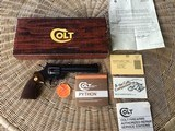 """COLT PYTHON 357 MAGNUM, 6"""" ROYAL BLUE, MFG. 1981, IN THE BOX WITH OWNERS MANUAL, HANG TAG, COLT LETTER, ETC."""
