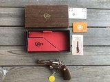 """COLT PYTHON 357 MAGNUM, 4"""" BRIGHT NICKEL, MFG. 1968, NEW UNFIRED IN THE BOX WITH OWNERS MANUAL, HANG TAG, ETC."""