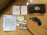 """COLT PYTHON 2 1/2"""" BRIGHT STAINLESS """"RARE GUN"""" NEW UNFIRED, UNTURNED 100% COND. IN THE BOX"""