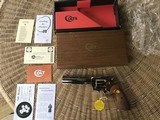 """COLT PYTHON 357 MAGNUM 6"""" BRIGHT NICKEL MFG. 1967, NEW UNFIRED, UNTURNED 100% COND. IN FACTORY COSMOLINE,IN THE BOX"""