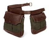 Mission Mercantile canvas & leather bird bag trio - new - 1 of 5