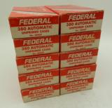 Lot of 10 Boxes of Federal 380 Auto Brass: 500 Pieces Total