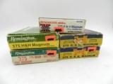 Lot of 375 H&H Magnum Cartridges: 100 Pieces