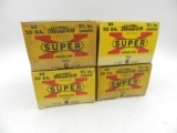 Lot of 4 Boxes of Western Super-X 20 ga. Shotgun Shells: 90 Shells