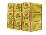 Collectible Ammo: Lot of 9 Boxes of Winchester Super Speed .22 Long Rifle Staynless Kopperklad