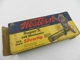 Collectible Ammo: Winchester Super-Speed Silvertip .348 Winchester 250 gr., Bear Box, Win No. K1715C - 2 of 10
