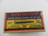 Collectible Ammo: Winchester Super Speed .30 Win (.30-30) 170 grain Soft Point Catalog No. K3002C - 4 of 11