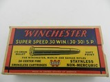 Collectible Ammo: Winchester Super Speed .30 Win (.30-30) 170 grain Soft Point Catalog No. K3002C - 2 of 11