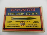 Collectible Ammo: Winchester Super Speed .270 Win 130 grain Pointed Expanding, Catalog No. K2702C - 2 of 13