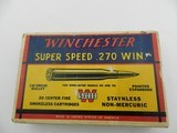 Collectible Ammo: Winchester Super Speed .270 Win 130 grain Pointed Expanding, Catalog No. K2702C - 4 of 13
