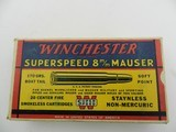 Collectible Ammo: Winchester Super Speed 8 m/m Mauser 170 grain Soft Point, Catalog No. K8004C - 2 of 15