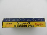 Collectible Ammo: Western Super-X Silvertip .32 Winchester Special 170 grain expanding bullet, Catalog No. K1713C. - 4 of 13