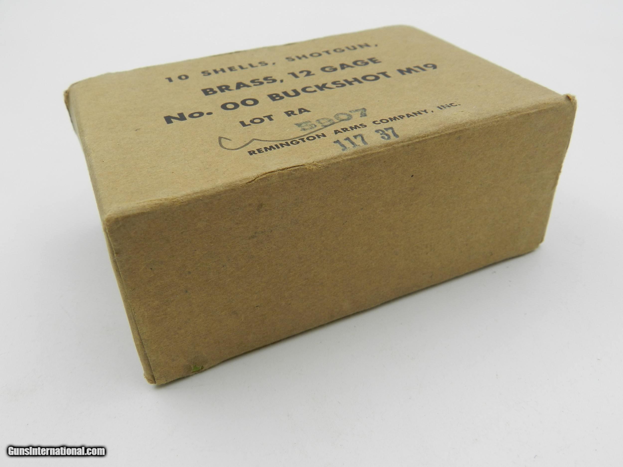 Collectible Ammo: US M19 Brass Shotshells, 00 Buck