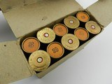 Collectible Ammo: US M19 Brass Shotshells, 00 Buck, Remington Manufacture, 10-Round Box (#6381)