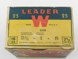 Collectible Ammo: Winchester Leader 16 Gauge 1933-1943 Vintage - 13 of 13