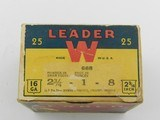 Collectible Ammo: Winchester Leader 16 Gauge 1933-1943 Vintage - 9 of 13