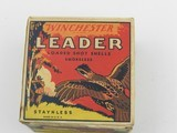 Collectible Ammo: Winchester Leader 16 Gauge 1933-1943 Vintage - 1 of 13