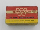 Collectible Ammo: Winchester .351 Winchester Self-Loading, 180 grain Soft Point, WSL, Catalog No. K3521C (6514)