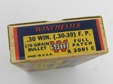 Collectible Ammo: Winchester Super Speed .30 Win (.30-30) 170 Gr Full Patch, 1935 Style Box, Catalog No. K3001C (6515) - 12 of 15