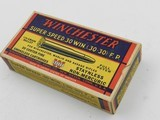 Collectible Ammo: Winchester Super Speed .30 Win (.30-30) 170 Gr Full Patch, 1935 Style Box, Catalog No. K3001C (6515) - 2 of 15