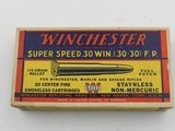 Collectible Ammo: Winchester Super Speed .30 Win (.30-30) 170 Gr Full Patch, 1935 Style Box, Catalog No. K3001C (6515) - 11 of 15