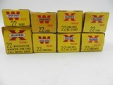 Collectible Ammo: Winchester Super-Speed & Western Super-X .22 Short, Long, LR, WMR, and Shot, 8 Boxes (6562)