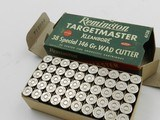 Collectible Ammo: Remington Targetmaster .38 Special 146 grain Wad Cutter, Catalog No. 6138, S&W, Colt Match Revolvers (#6581) - 3 of 10