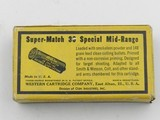 Collectible Ammo: Winchester Super Match .38 Special Mid-Range 148 grain Clean Cutting Bullet, Catalog No. 38SMRP, Bullseye (#6582) - 5 of 10