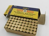 Collectible Ammo: Winchester Super Match .38 Special Mid-Range 148 grain Clean Cutting Bullet, Catalog No. 38SMRP, Bullseye (#6582) - 3 of 10