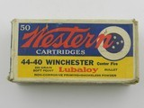 Collectible Ammo: Western .44-40 Winchester 200 grain Soft Point, Bullseye Box, Catalog No. 4440 (#6586) - 2 of 10