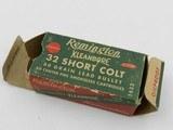 Collectible Ammo: Remington Kleanbore .32 Short Colt, 80 grain Lead Bullet, Catalog No. 1632 (#6589) - 3 of 10