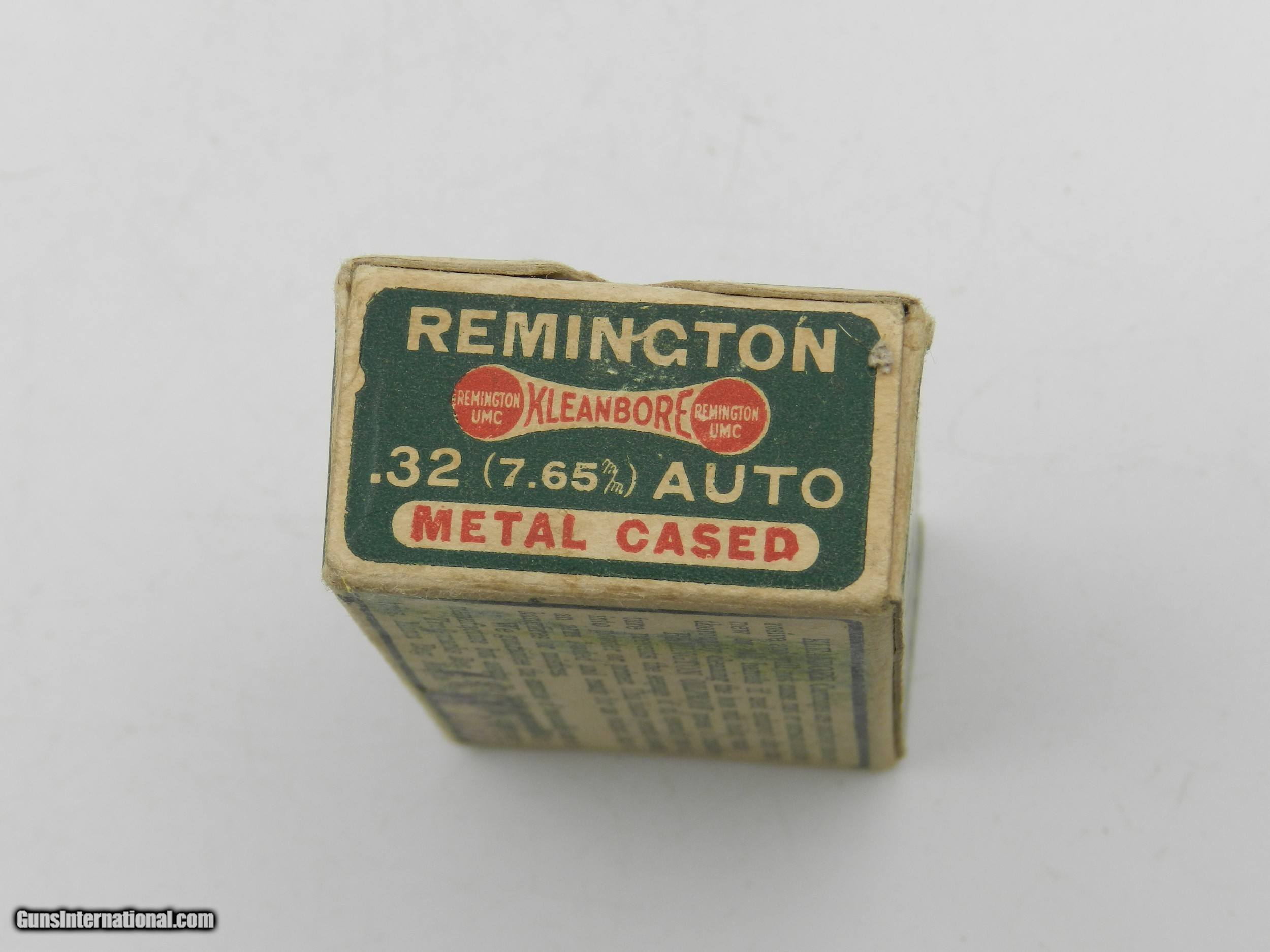 Collectible Ammo: Remington Kleanbore  32 Auto (7 65 mm), 71