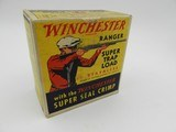 "Collectible Ammo: Two ""Red Sweater"" Boxes of Winchester Ranger Super Trap Loads, 12 ga, Red Dot (#6600)"