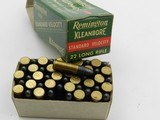 Collectible Ammo: Six Boxes Remington Kleanbore .22 LR: Police Targetmaster, Pistol Match, Hi-Speed, Standard Velocity (6607) - 8 of 12