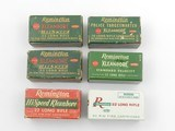 Collectible Ammo: Six Boxes Remington Kleanbore .22 LR: Police Targetmaster, Pistol Match, Hi-Speed, Standard Velocity (6607)
