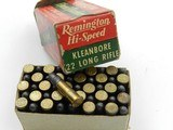 Collectible Ammo: Six Boxes Remington Kleanbore .22 LR: Police Targetmaster, Pistol Match, Hi-Speed, Standard Velocity (6607) - 9 of 12