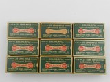 Collectible Ammo: Nine Boxes of Remington Kleanbore R17L .22 LR in the Dog Bone Box, Brass and Copper Cased Types (6608)