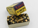 Collectible Ammo: Eight Boxes of Western .22 Long, LR, Clay Target Shot, Super-X, Xpert, Super-Match, Bullseye Box (#6609) - 13 of 20