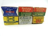 Collectible Ammo: 6 Boxes Vintage .22 Short: Winchester Lesmok, Peters Filmkote, Western Super-X H.P., J.C. Higgins, Rem Hi-Speed Kleanbore (#6611 - 3 of 19