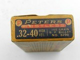 Collectible Ammo: Peters Rustless High Velocity .32-40 165 grain SP Bullett No. 3290 (#6689) - 6 of 10