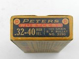 Collectible Ammo: Peters Rustless High Velocity .32-40 165 grain SP Bullett No. 3290 (#6689) - 7 of 10