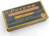 Collectible Ammo: Peters Rustless High Velocity .32-40 165 grain SP Bullett No. 3290 (#6689)
