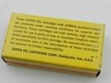 Collectible Ammo: One box of original Super Vel 9mm Luger.90 grain Jurras JHP(6459) - 4 of 9