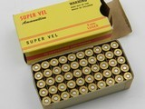 Collectible Ammo: One box of original Super Vel 9mm Luger.90 grain Jurras JHP(6459) - 1 of 9