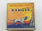 Collectible Ammo: One Full Vintage Box of Winchester Ranger 16 Gauge Shotshells in the Pointer Box. 6473 - 4 of 12